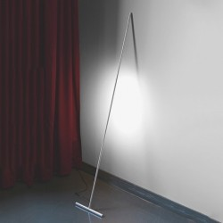 T-Light Lean Floor Lamp - Aluminium