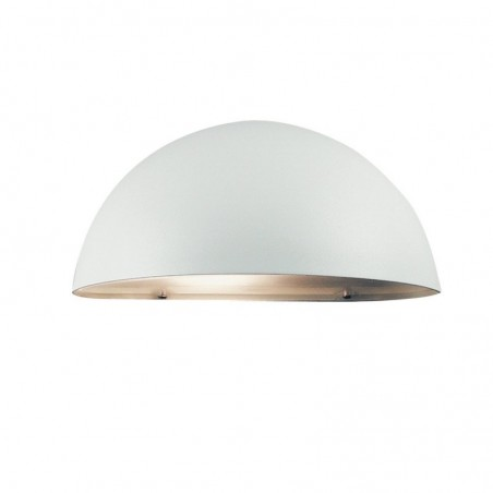 Dome Outdoor Wall Light - White