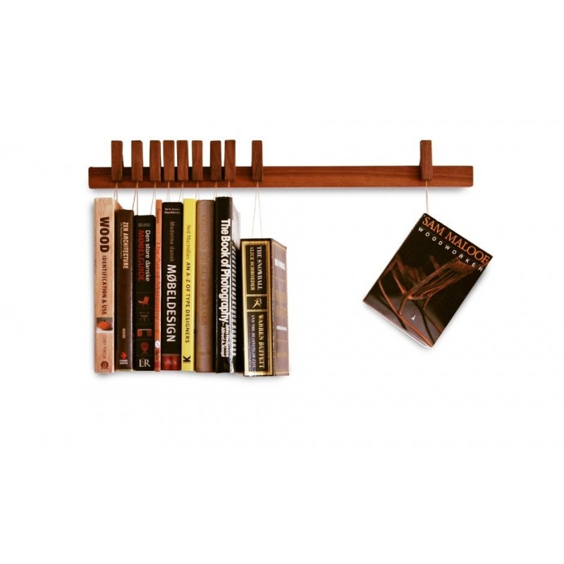 Agustav Book Rack - Walnut