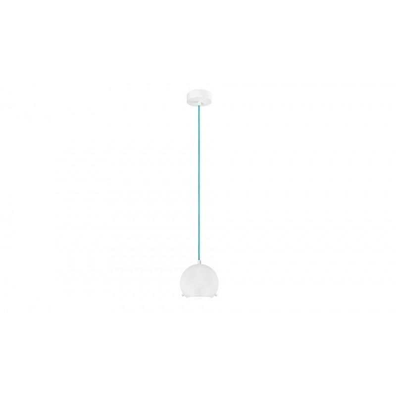 Myoo Mouth Blown White Opal Glass Hanging Lamp
