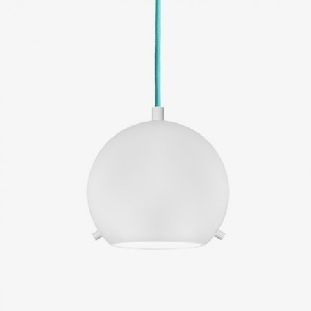 Myoo Mouth Blown White Opal Glass Hanging Lamp