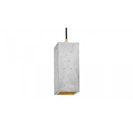B2 Light Grey Concrete & Gold Leaf Pendant Lamp