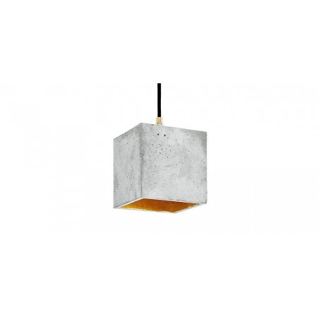 B1 Light Grey Concrete & Gold Leaf Pendant Lamp