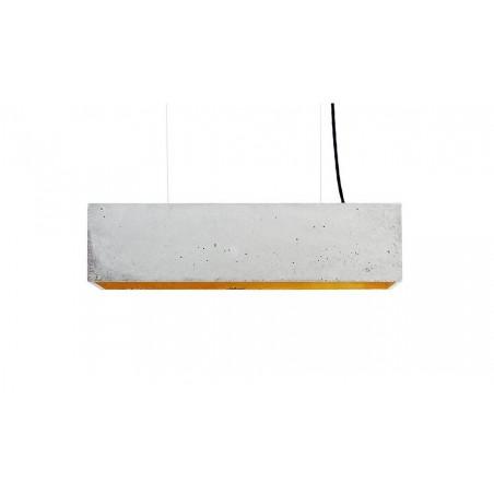 B4 Light Grey Concrete & Gold Leaf Pendant Lamp