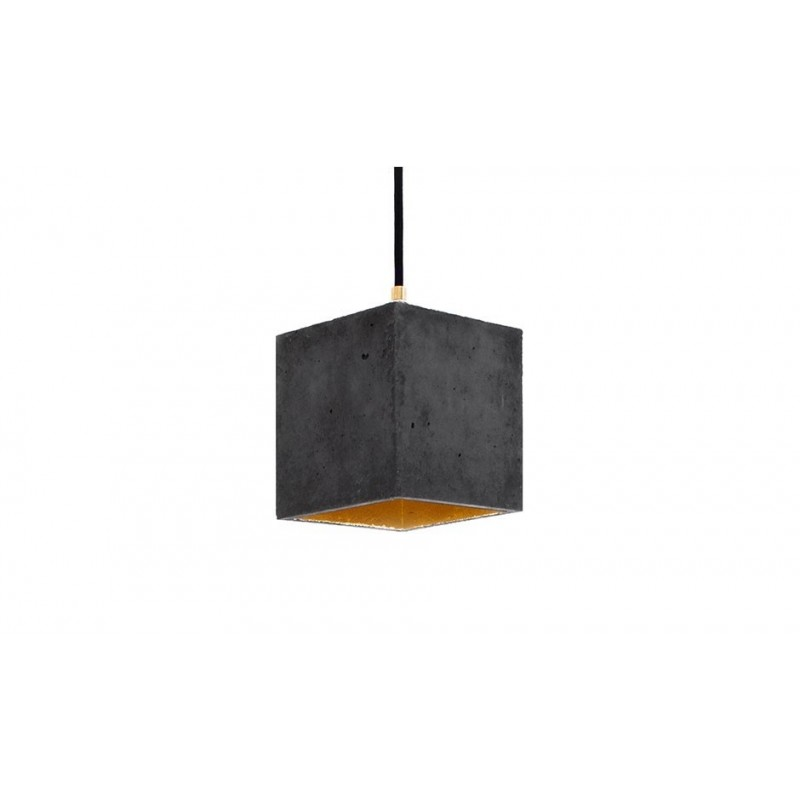 B1 Dark Grey Concrete & Gold Leaf Hanging Light