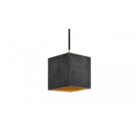 B1 Dark Grey Concrete & Gold Leaf Hanging Light