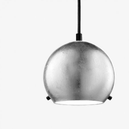 Myoo Silver Leaf Mouth Blown Opal Glass Pendant Lamp