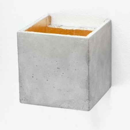 B3 Light Grey Concrete & Gold Plated Wall Sconce