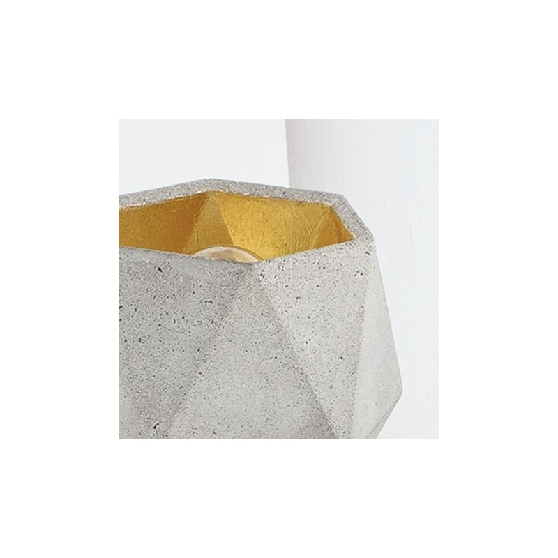 T2 Light Grey Concrete & Gold Leaf Wall Lamp