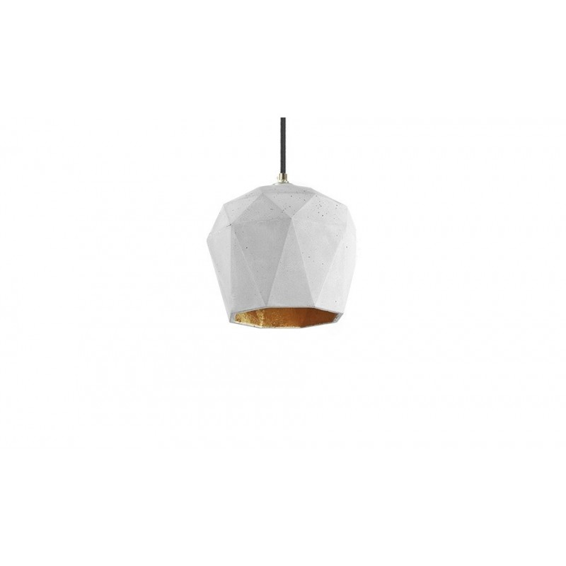 T3 Light Grey & Gold Leaf Hanging Lamp