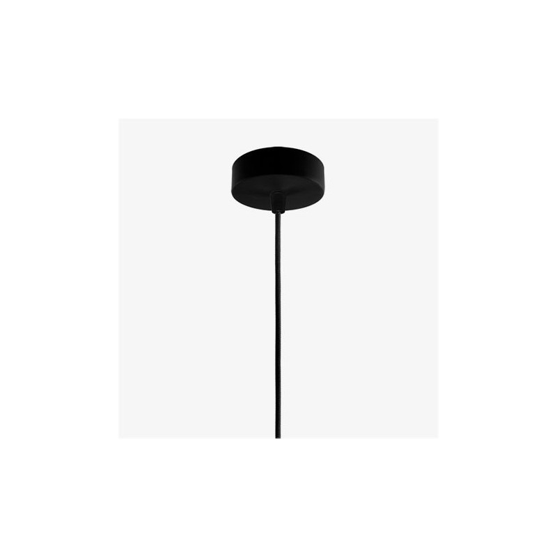 Ume Mouth Blown Opal Hanging Lamp - White / Black