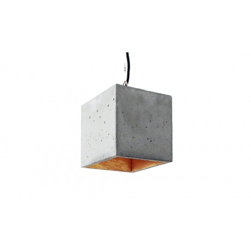 B5 Light Grey Concrete & Gold Plated Pendant Lamp