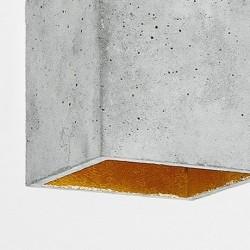 B5 Light Grey Concrete & Gold Plated Pendant Lamp