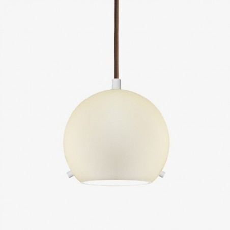 Myoo Mouth Blown Beige Opal Glass Pendant Light