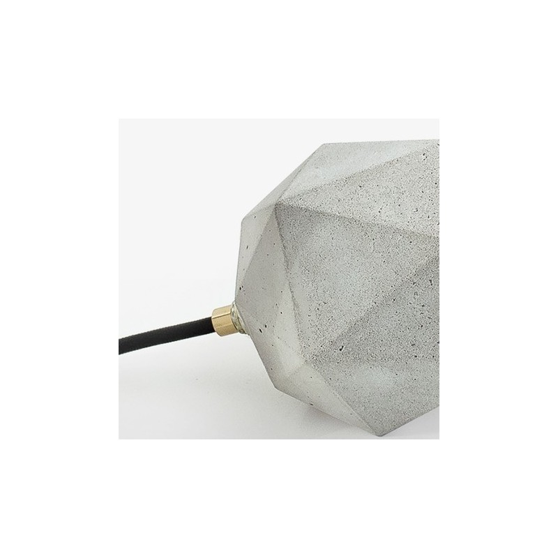 T2 Up Grey Concrete & Gold Leaf Table Lamp