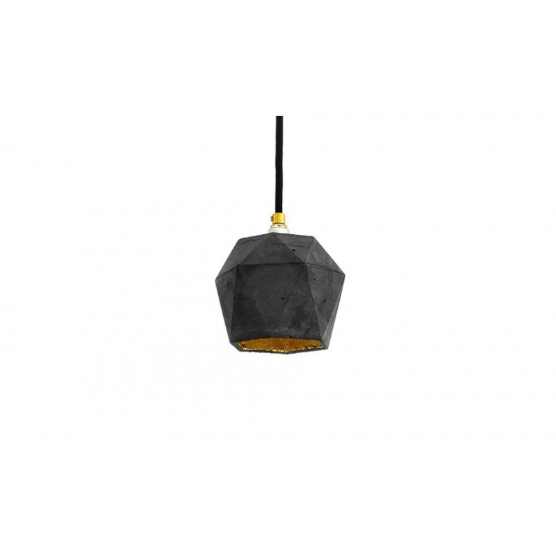 T2 Dark Grey and Gold Leaf Pendant Lamp