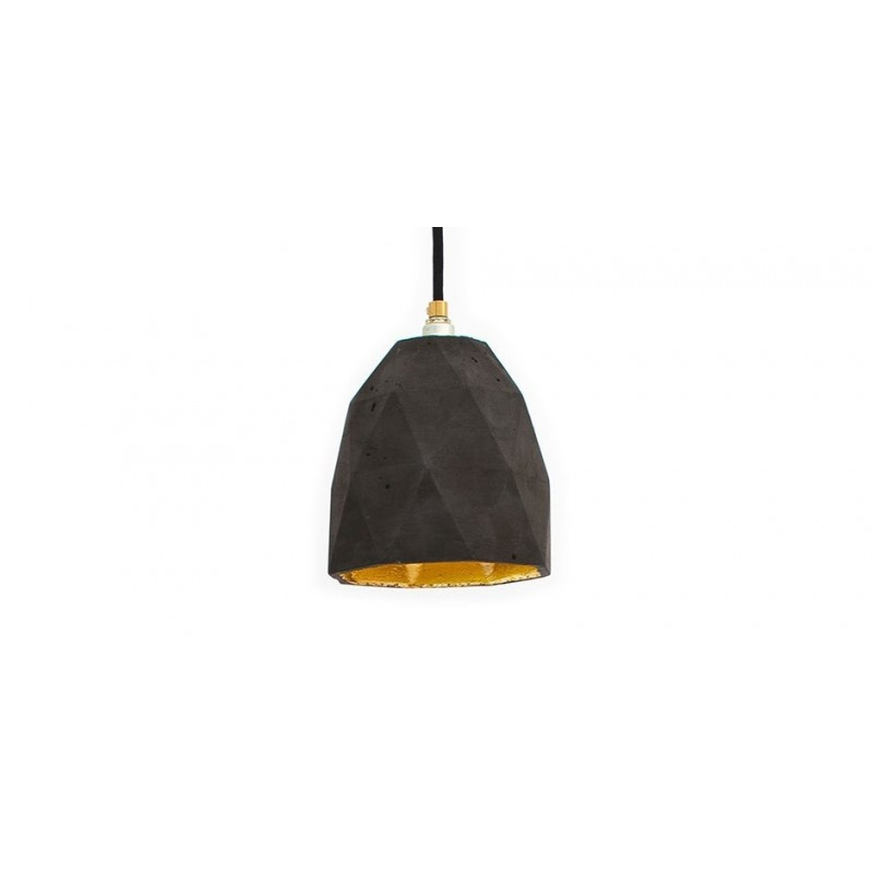 T1 Dark Grey Concrete & Gold Leaf Hanging Light