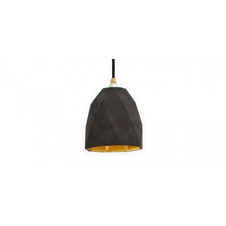 T1 Dark Grey Concrete & Gold Leaf Hanging Light