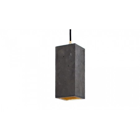 B2 Dark Concrete and Gold Leaf Pendant Light