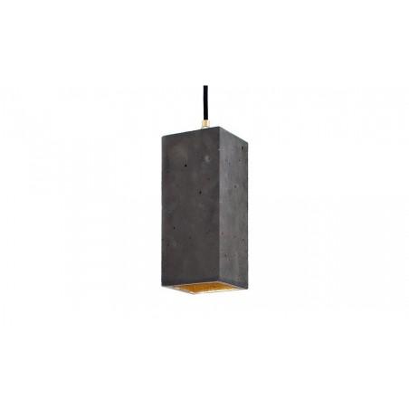B2 Dark Concrete and Gold Leaf Pendant Light
