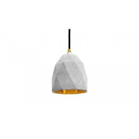 T1 Concrete & Gold Leaf Pendant Lamp - Light Grey