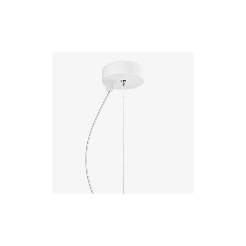 Soto Luce Awa Mouth Blown White Opal Glass Hanging Lamp