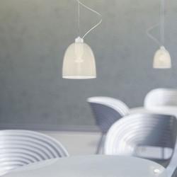 Awa Mouth Blown White Opal Glass Hanging Lamp