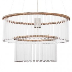 Maria SC Test Tube Double Chandelier - Natural