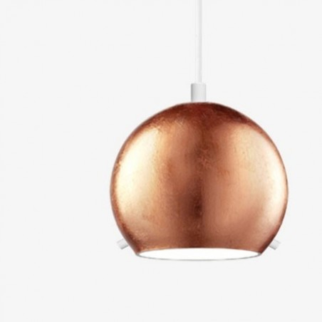 Sotto Luce Myoo Copper Leaf Mouth Blown Opal Hanging Lamp