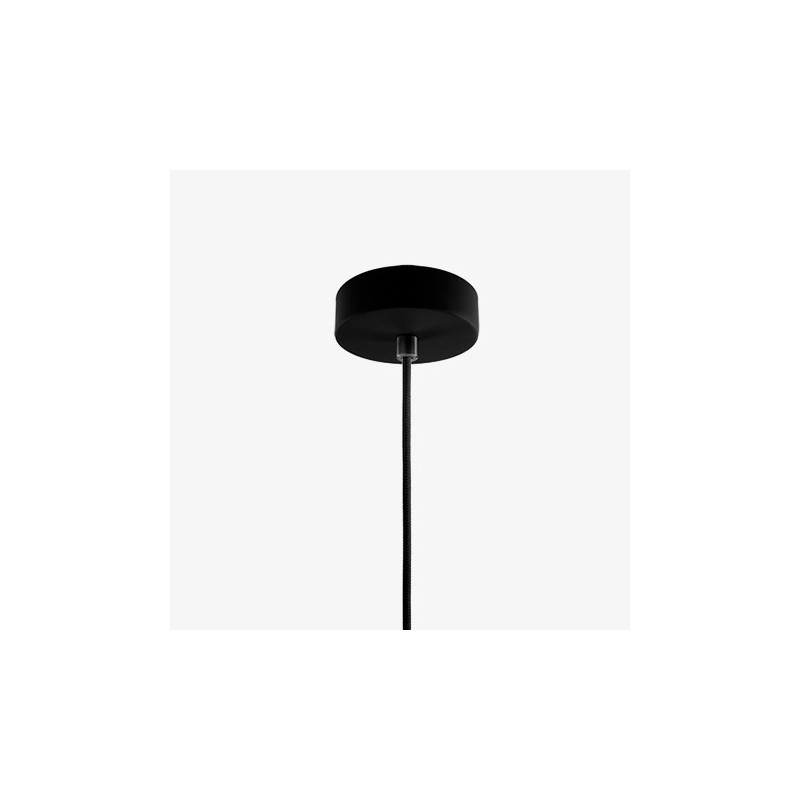 Ume Mouth Blown Black Opal Glass Hanging Lamp