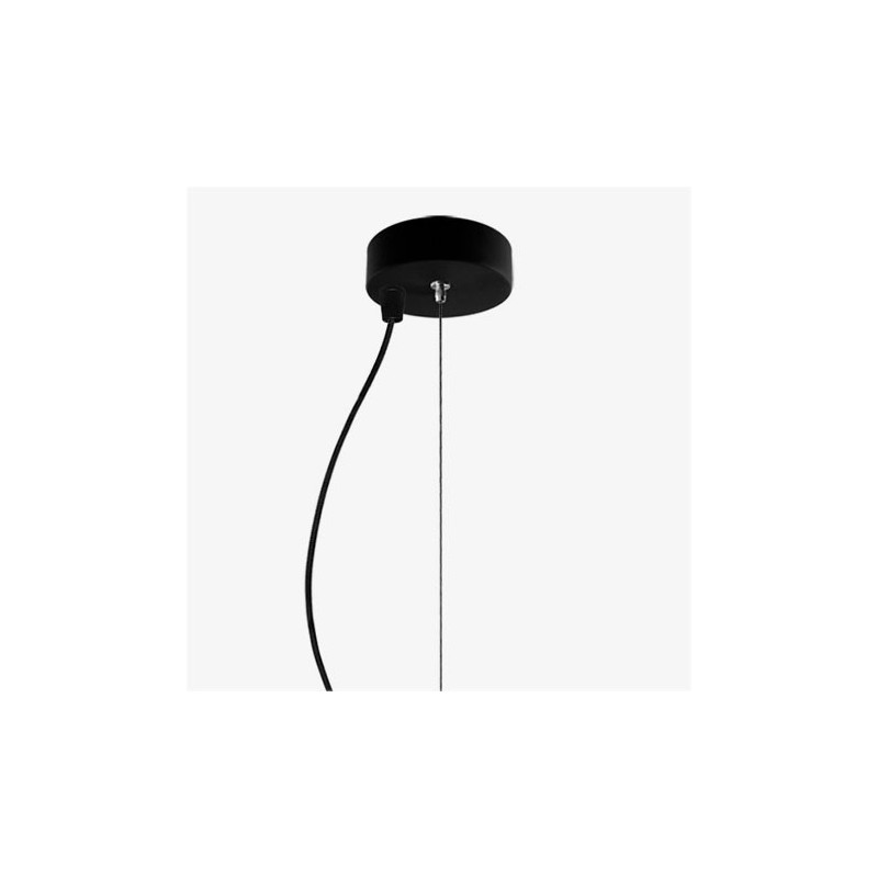 Awa Mouth Blown Black Opal Glass Pendant Lamp