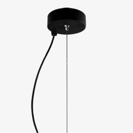 Awa Mouth Blown Black Opal Glass Pendant Lamp
