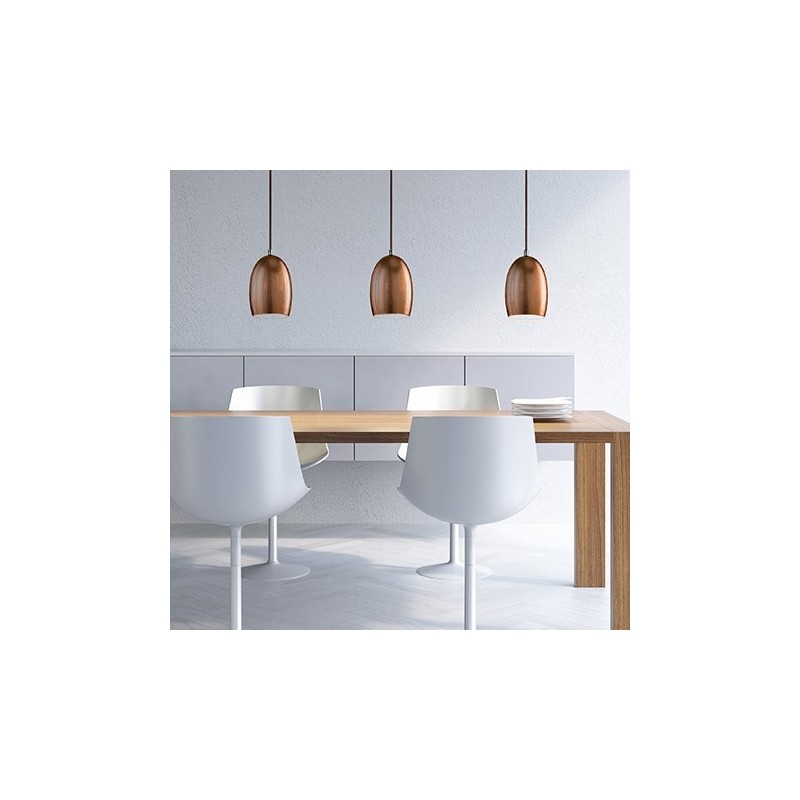 Ume Mouth Blown Pendant Lamp - Copper Leaf