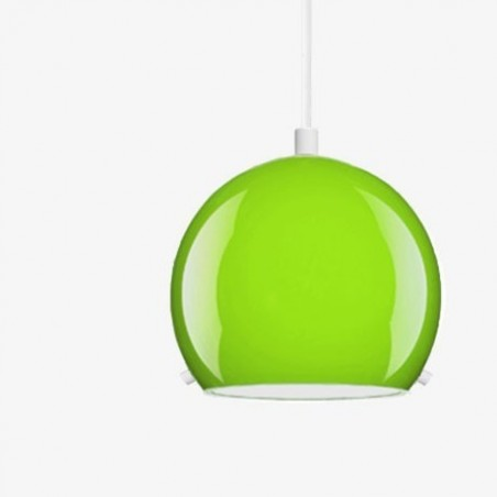 Myoo Mouth Blown Green Opal Glass Pendant Light