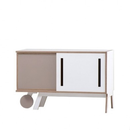 Clavio Birch Sideboard - Mole Grey