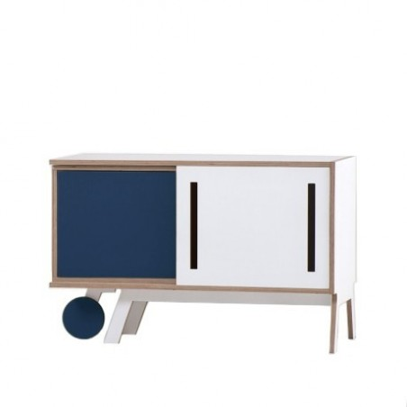 Clavio Birch Sideboard - Blue