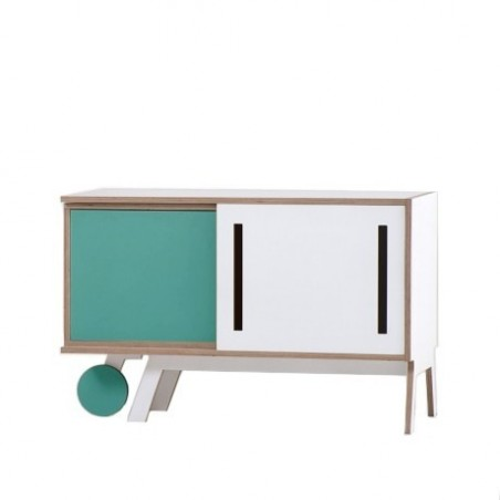 Clavio Birch Sideboard - Light Blue