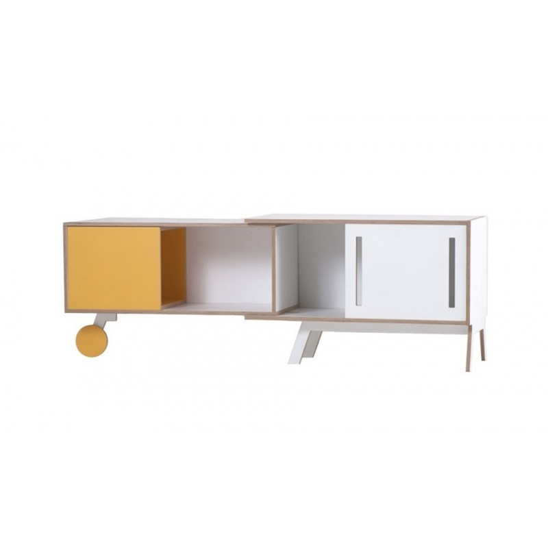 Clavio Birch Sideboard - Yellow