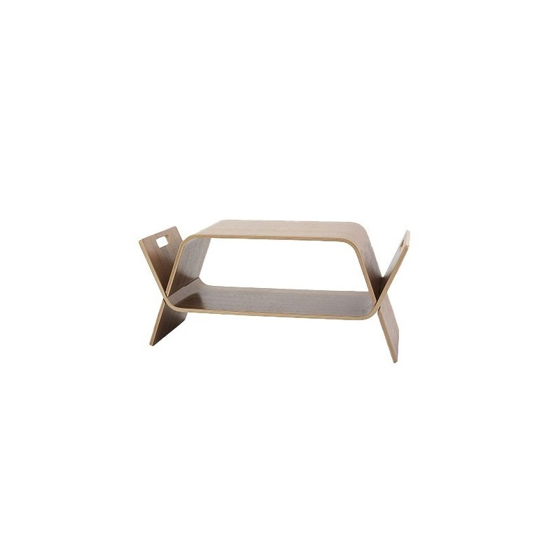 John Green Embrace Coffee Table / Bookstand - Walnut