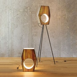 Tulip Wood Modernist Standing Floor Light