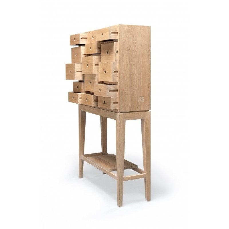 Wewood Contador Solid Oak Cabinet