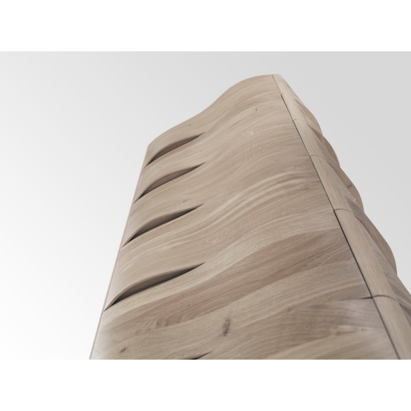 Wewood Touch Modern Oak Cabinet / Tallboy / Chest Drawers