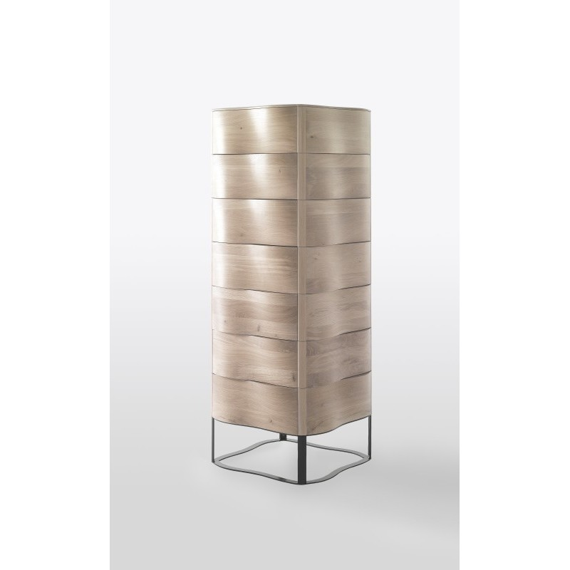 Wewood Touch Modern Oak Cabinet |Tallboy | Chest Drawers