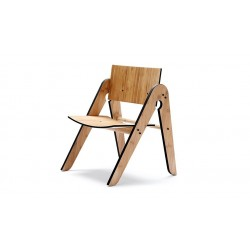 Lilly's Wood Child's Chair - Black
