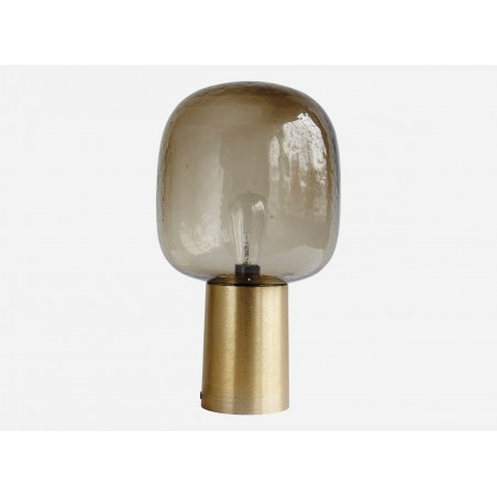 House Doctor Note Table Lamp Glass Brass
