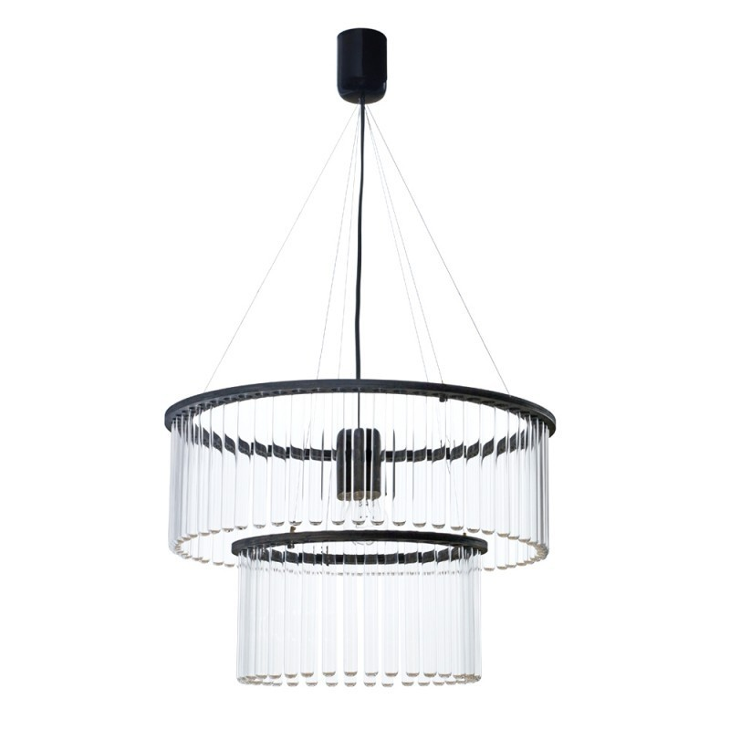 Maria SC Test Tube Double Chandelier - Black