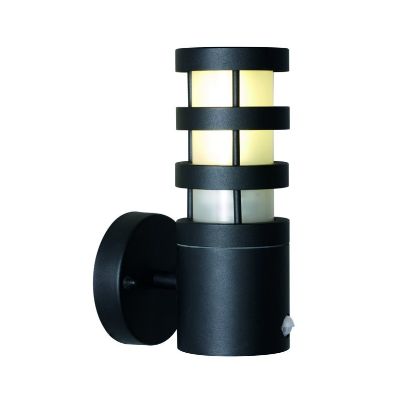 Darwin Straight Opal Glass and Aluminium Outdoor Light - Black