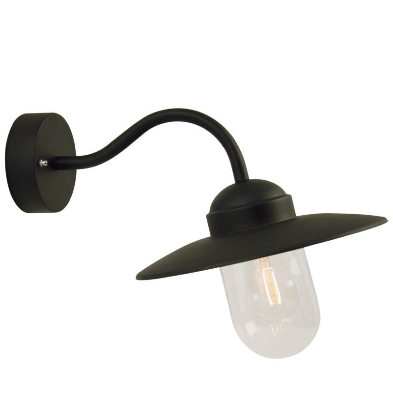 Classic Design Black Matt Outdoor Wall Light