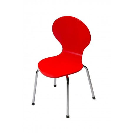 Kids Danish Red Chair by Dan-Form