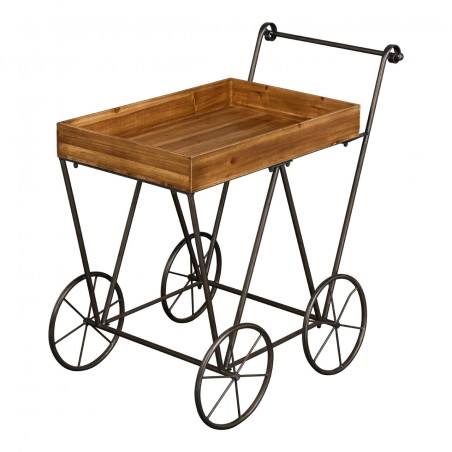 Industrial Pram Style Serving Trolley